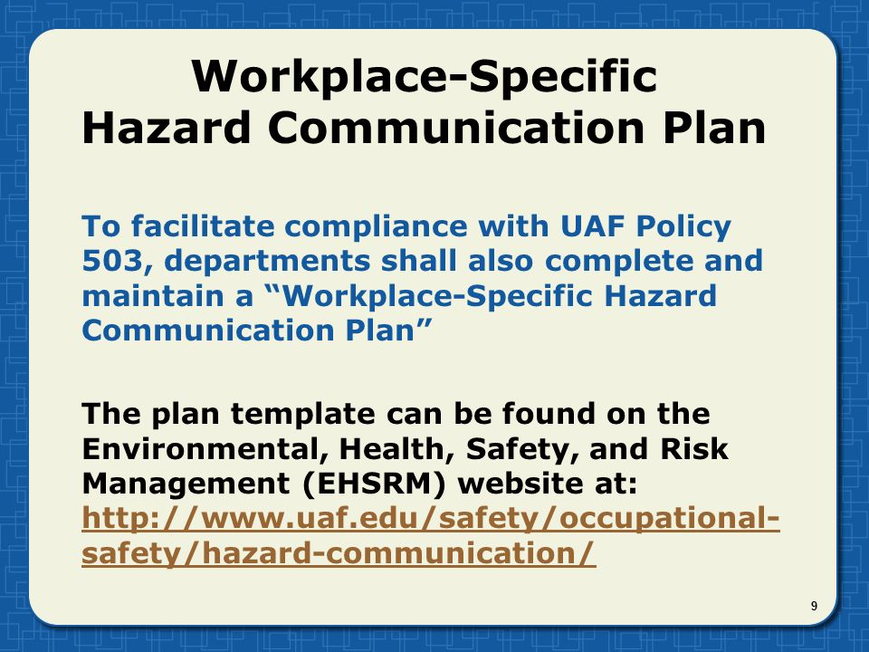 communication policy template - hazard communication general revised april ppt video
