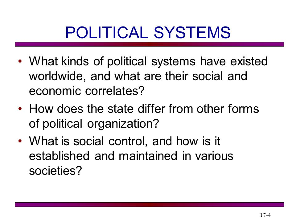 1 7 C H A P T E R POLITICAL SYSTEMS ppt download