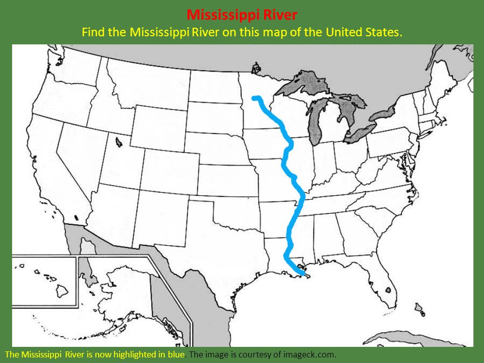 Mississippi river on the us map
