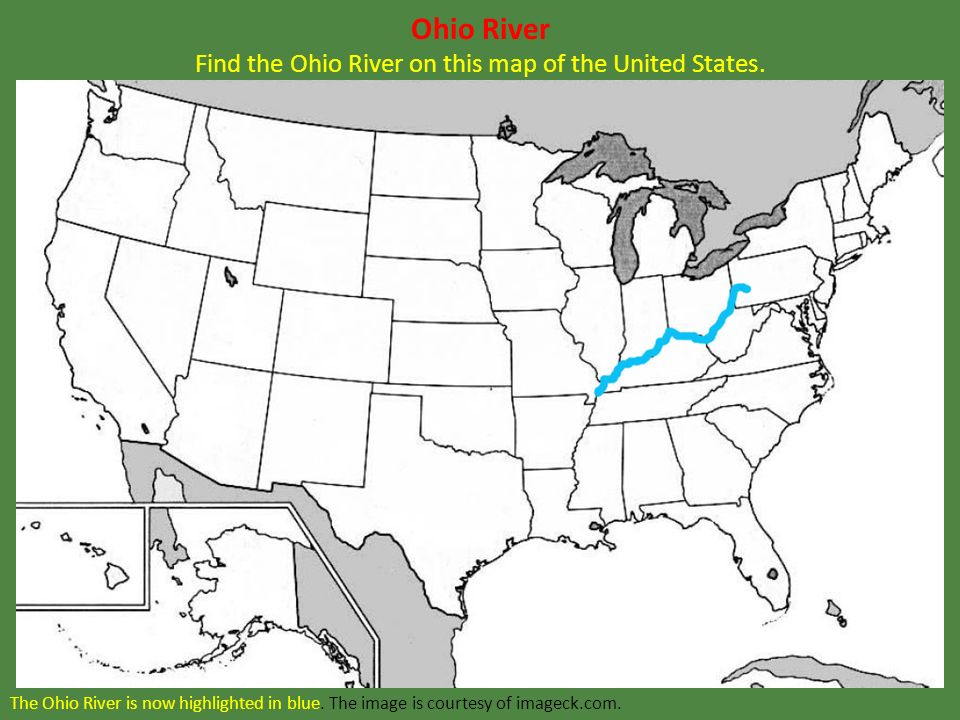 This Image Shows Major General Ulysses S Grant Ppt Download - Ohio river on us map