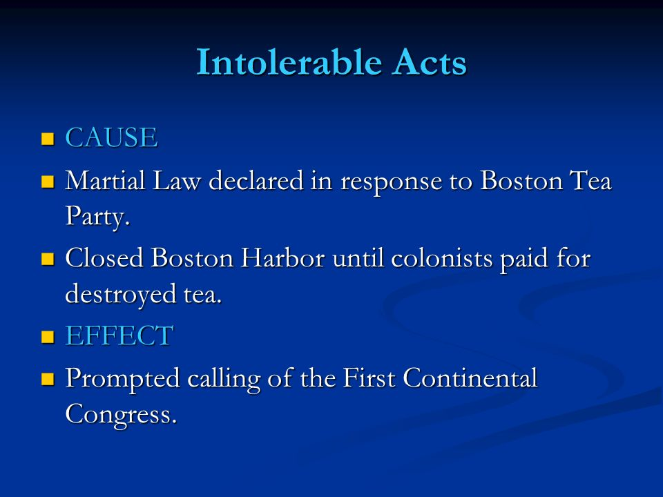 the boston tea party and the laws that sparked the revolution in colonial america Revolutionary tea parties and the reasons for revolution  of letters from america and the quest for colonial opinion  at boston tea party on from revolution to .