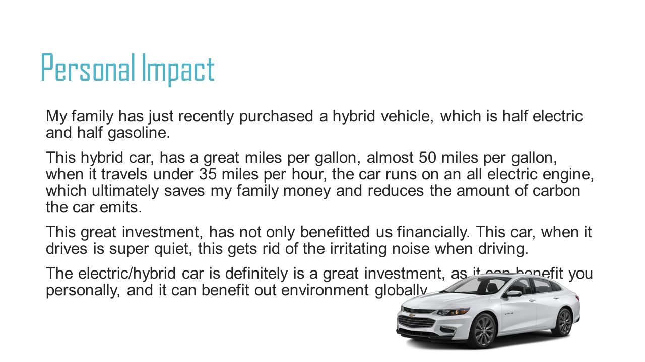 benefits of electric vehicles 2 essay Ielts writing task 2/ ielts essay: you should spend about 40 minutes on this task some people claim that there are more disadvantages of the car than its advantages.