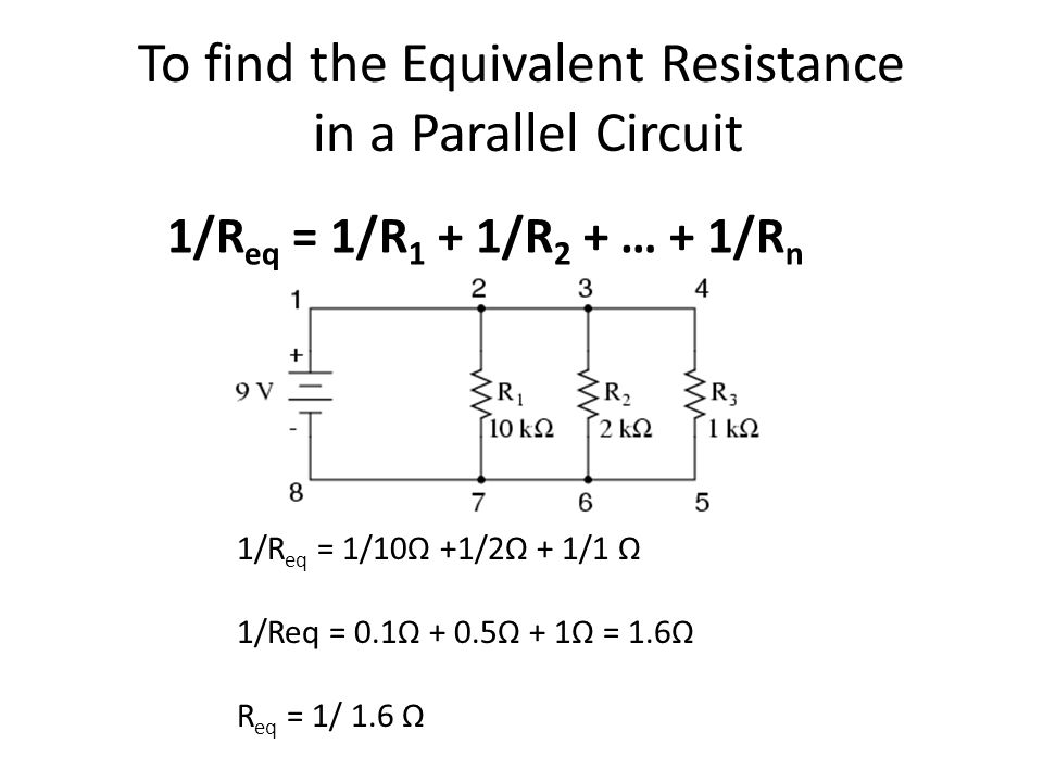 resistor and total resistance In equation 6, i 2 is the current through the second resistor in amps, i total is the total current of the circuit in amps, r 1 is the resistance value of the first.