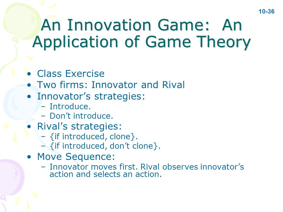 the application of game theory in Game theory is the formal study of conflict and cooperation game theoretic concepts apply whenever the actions of several agents are interdependent these.