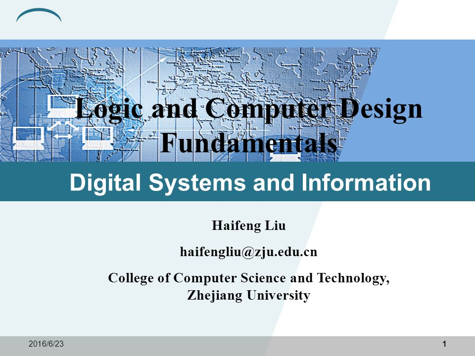 logic computer design Digital logic is the basis of electronic systems, such as computers and cell   digital logic design is used to develop hardware, such as circuit boards and.