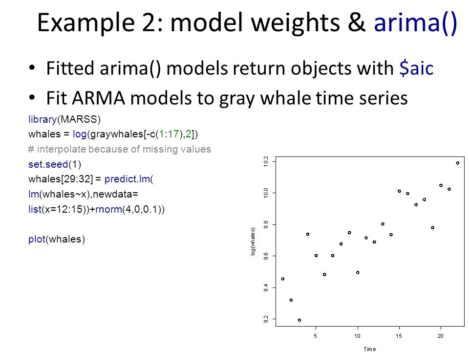 how to use aic to compare models with example