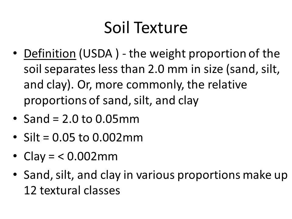 Mlra soil survey leader ppt video online download for Soil texture definition