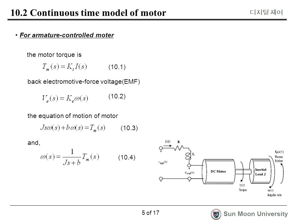 Digital control 10 dynamic model of dc servo motor for Servo motor sizing calculator online