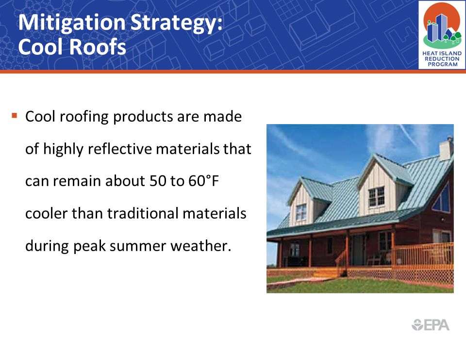 Mitigation Strategy: Cool Roofs
