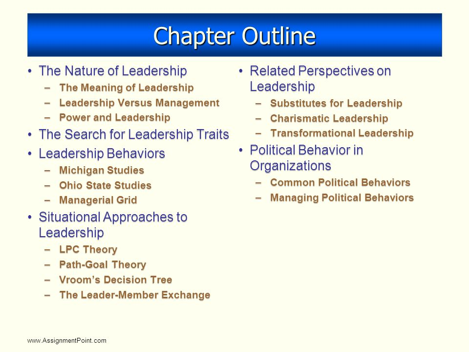 the meaning of leadership essay