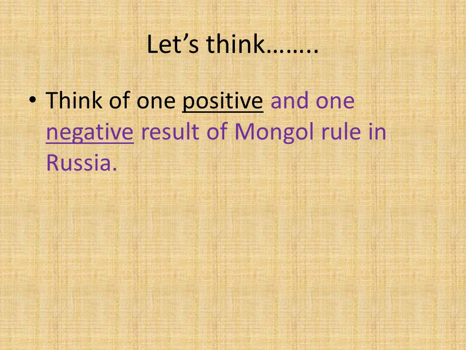 is the influence of the mongols on eurasia positive or negative Mongol influences in china and russia positive influence of mongol yoke to russia in the middle of 12th century impacts that had negative effect on eurasia's economy, and influenced the spread of ideas, technology, and diseases to a certain extent.