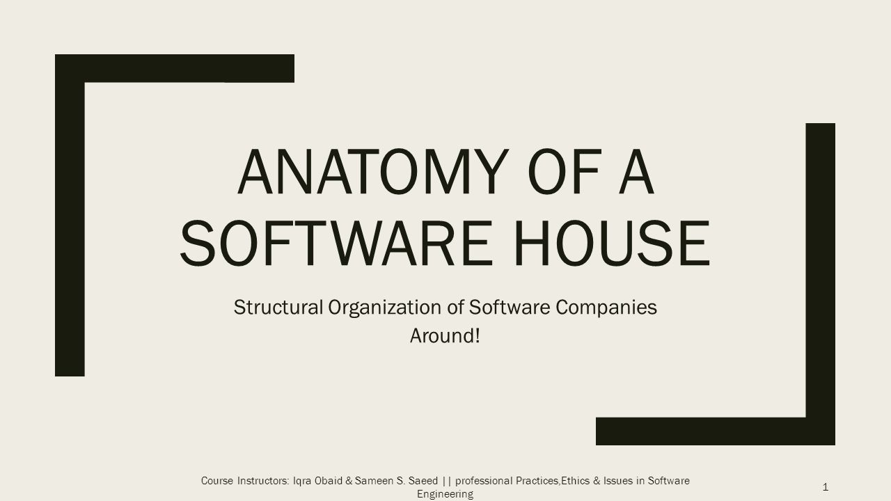 Anatomy of a Software House - ppt video online download