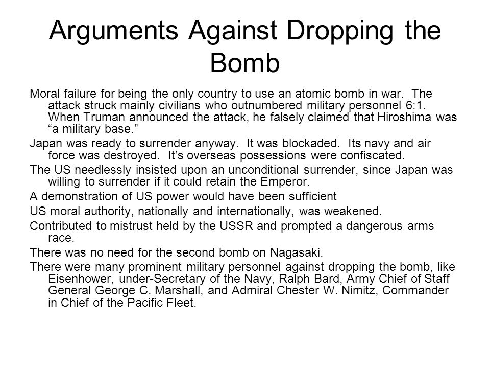 an argument in favor of dropping the atomic bomb on japan as decided by truman 27 atomic bomb on hiroshima essay examples from #1  harry truman decided to drop the bomb  an argument in favor of dropping an atomic bomb on.