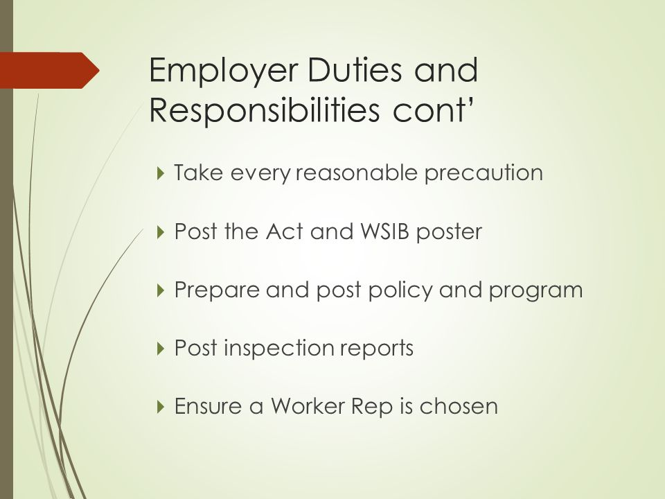 employer duties Employees have moral duties to the organization, co-workers, and customers if an employer were secretly to look for a replacement for an employee by conducting interviews behind the employee's back, most employees would consider that an act of betrayal.