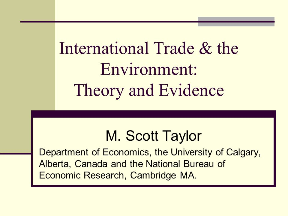 international trade theory and evidence