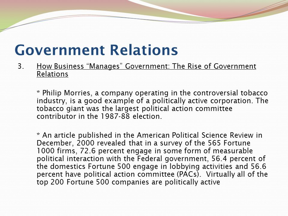 business government relations Nonprofitfactscom is not associated with, endorsed by, or sponsored by business-government relations council and has no official or unofficial affiliation with business-government relations council based on public records.
