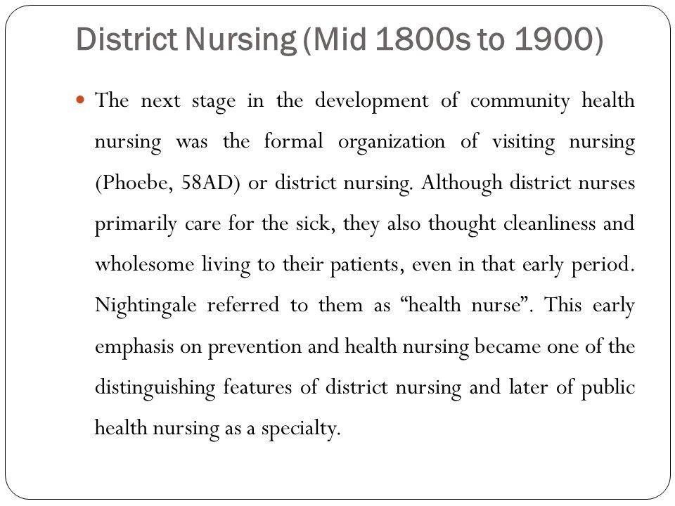 District Nursing (Mid 1800s to 1900)