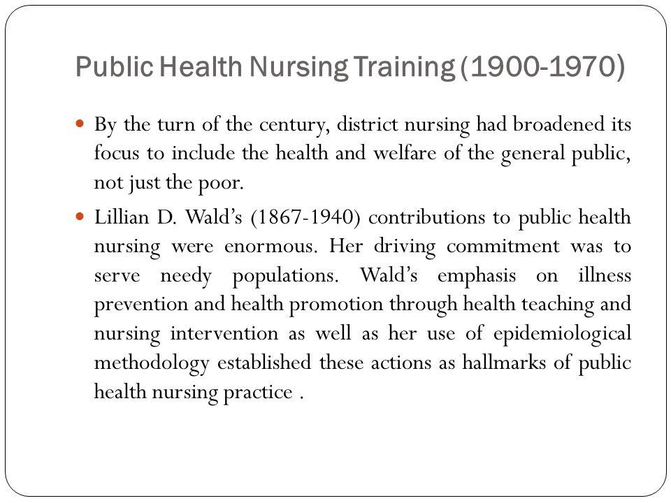 Public Health Nursing Training (1900-1970)