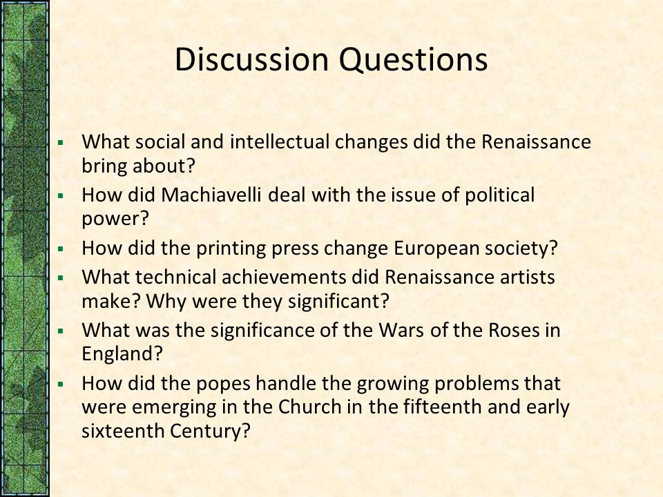 How Did the Renaissance Change European Culture & Society?