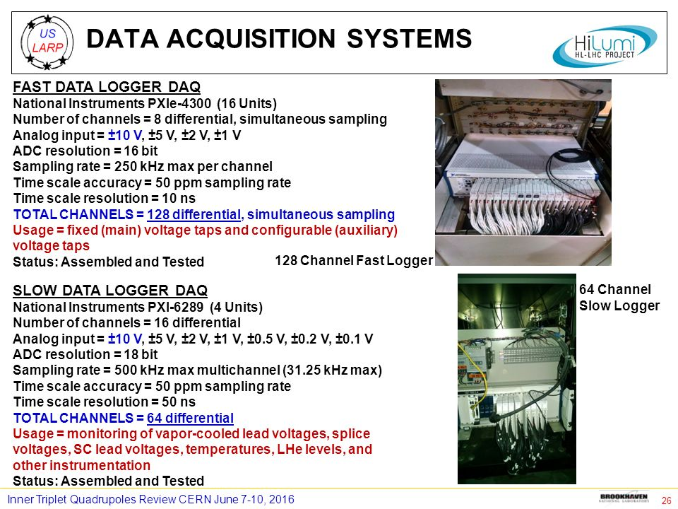Pxi Data Acquisition System : Bnl magnet test facility for mqxf q ppt download