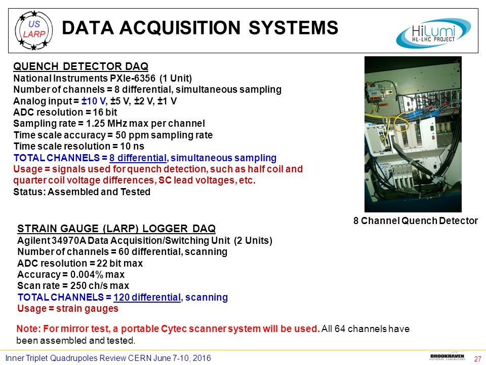 Data Acquisition Unit : Bnl magnet test facility for mqxf q ppt download