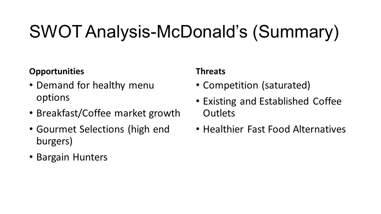 mcdonald s case analysis essay example Mcdonald's successfully used the celebrity in different countries the current example in hk is using the coffee expert actor moses chan for promoting their coffee in mccafe this help to reposition the coffee in mccafe as a premium beverage.