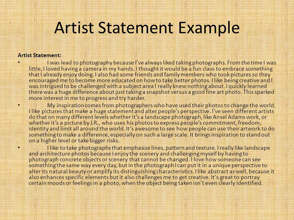One Line Artist Statement : What is it how to write one ppt video online download