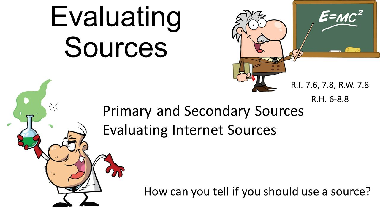 how to use primary and secondary sources