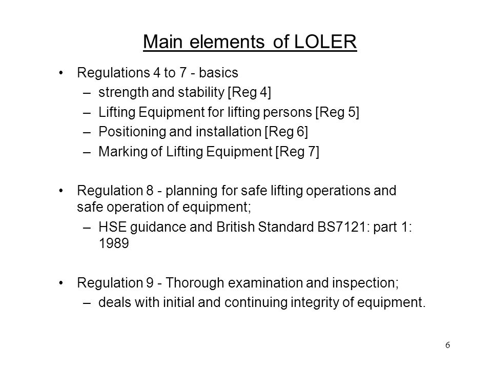 """lifting operations and lifting equipment regulations essay Regulations in uk define lifting equipment as """"work equipment used at work for  lifting and lowering loads and includes attachments used for anchoring, fixing or ."""