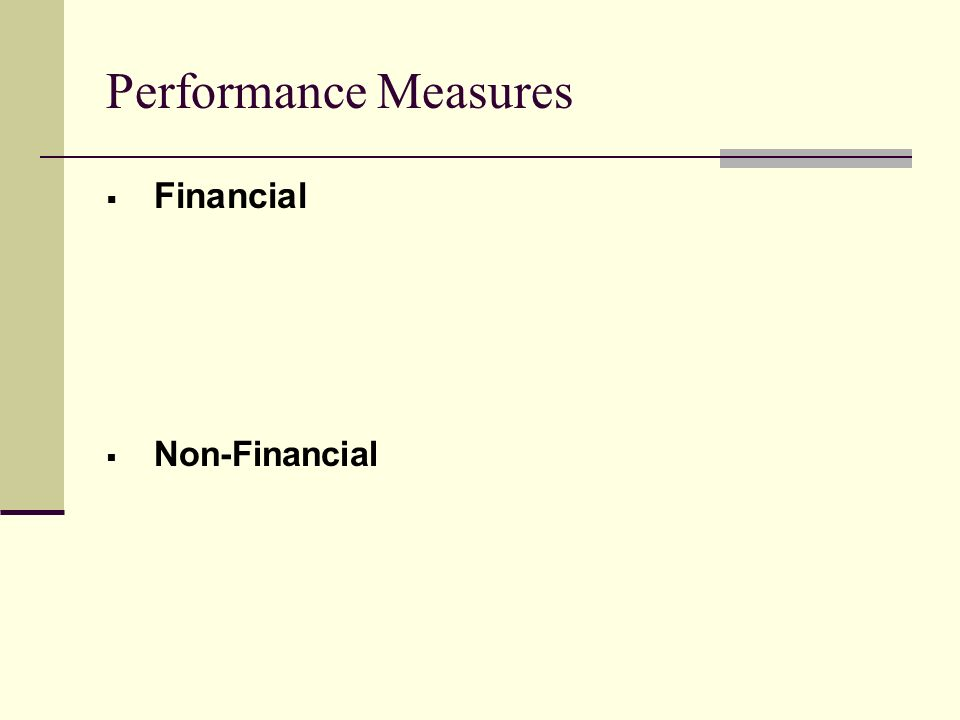The Importance of the Non-Financial Objectives Theory