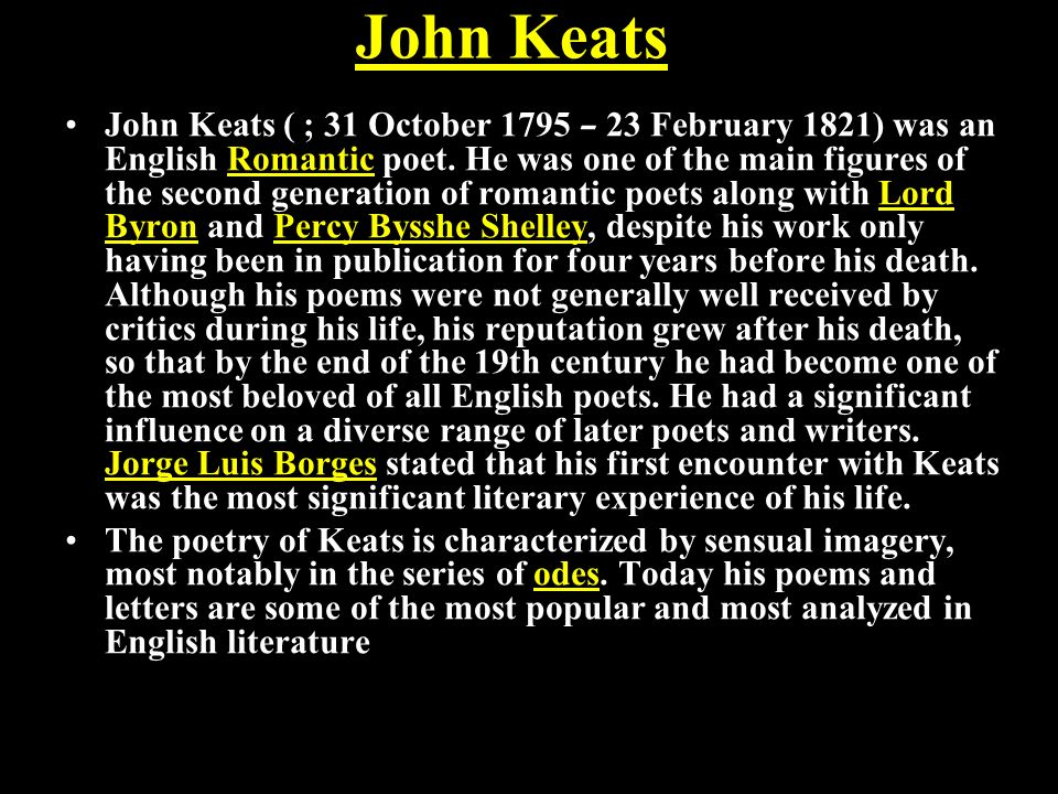 an analysis of john keats ode to a nightingale Ode to nightingale analysis critical analysis ode to nightingale critical analysis and summary, a romantic poem by john keats.