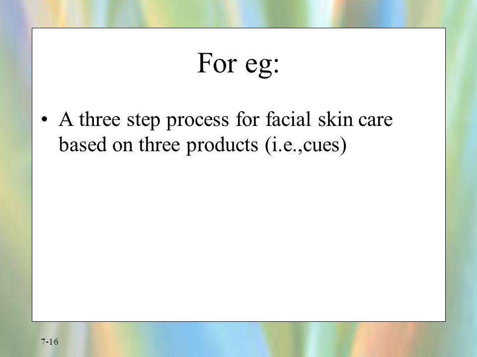 Facial care process think, that