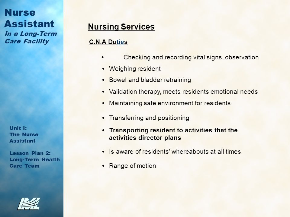 10 nursing services cna duties - Duties Of Nurse Assistant