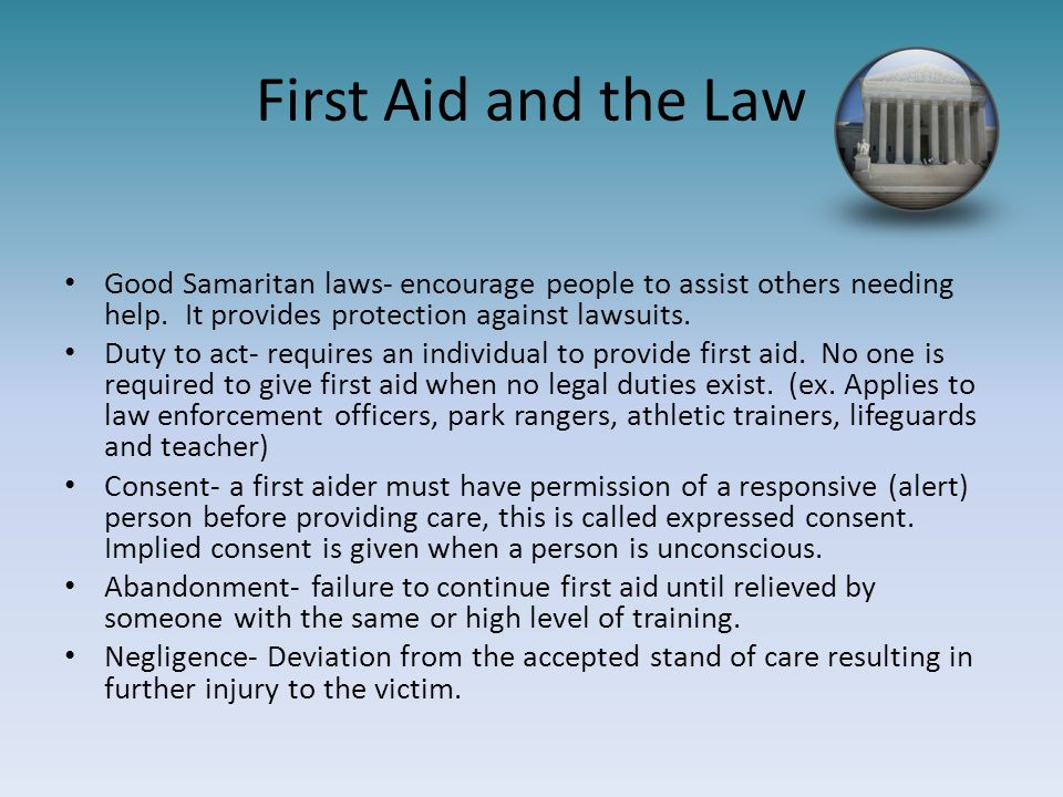 First aid cpr for the law enforcement