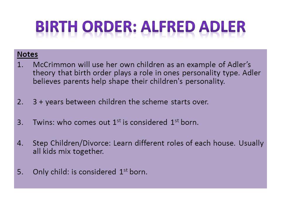 adlerian theory birth order gender family values