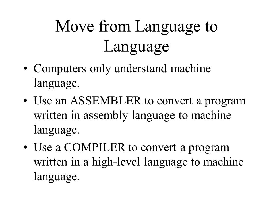 Move from Language to Language