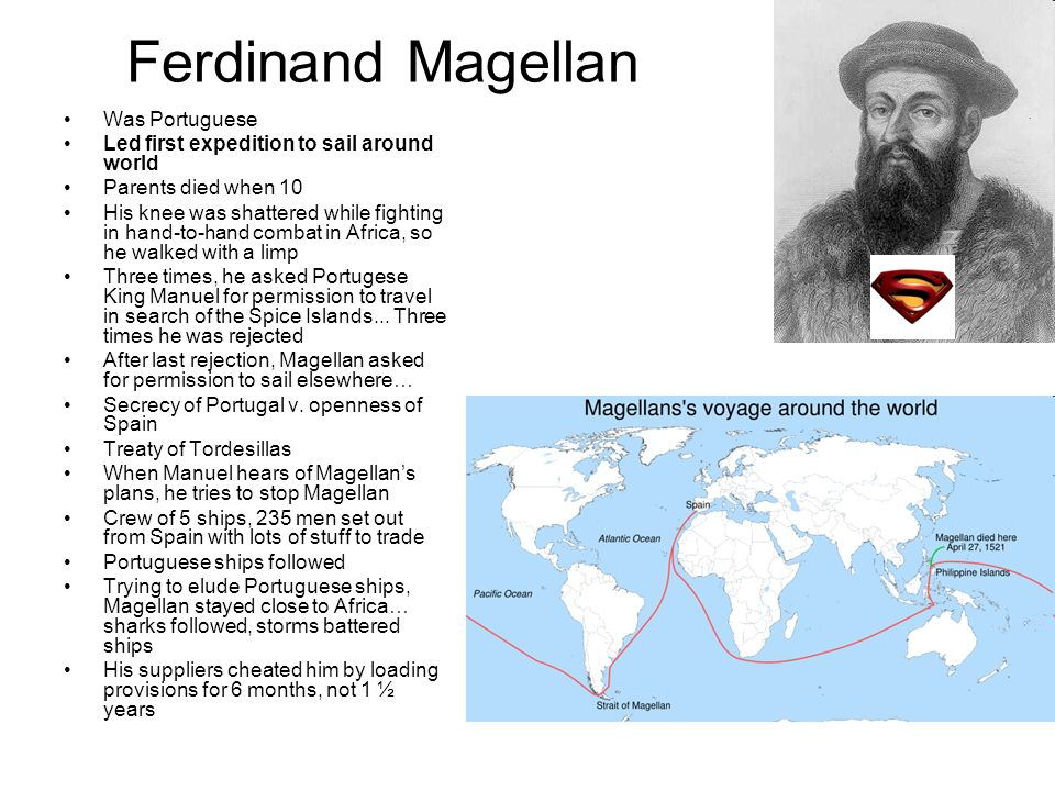 the portuguese explorers ferdinand magellan Ferdinand magellan biography explorer navigator portuguese name: fernao de magalhaes magellan was born in portugal, but it was under the spanish flag that he sailed in 1519 with the intention of reaching the spice islands by sailing west around south america.