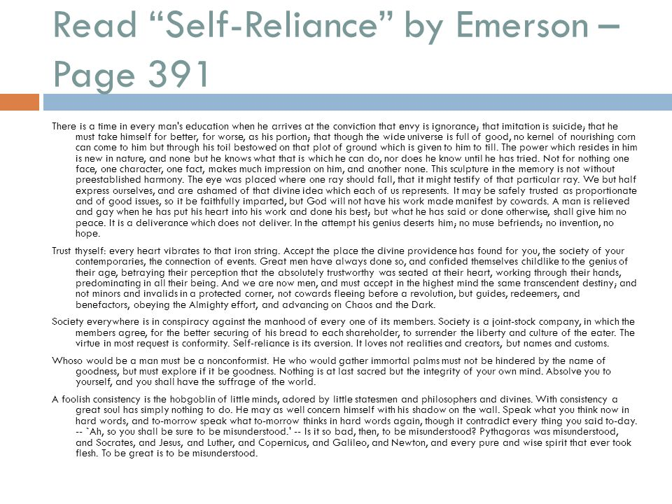 emerson self reliance thoreau civil disobedience ppt download. Black Bedroom Furniture Sets. Home Design Ideas