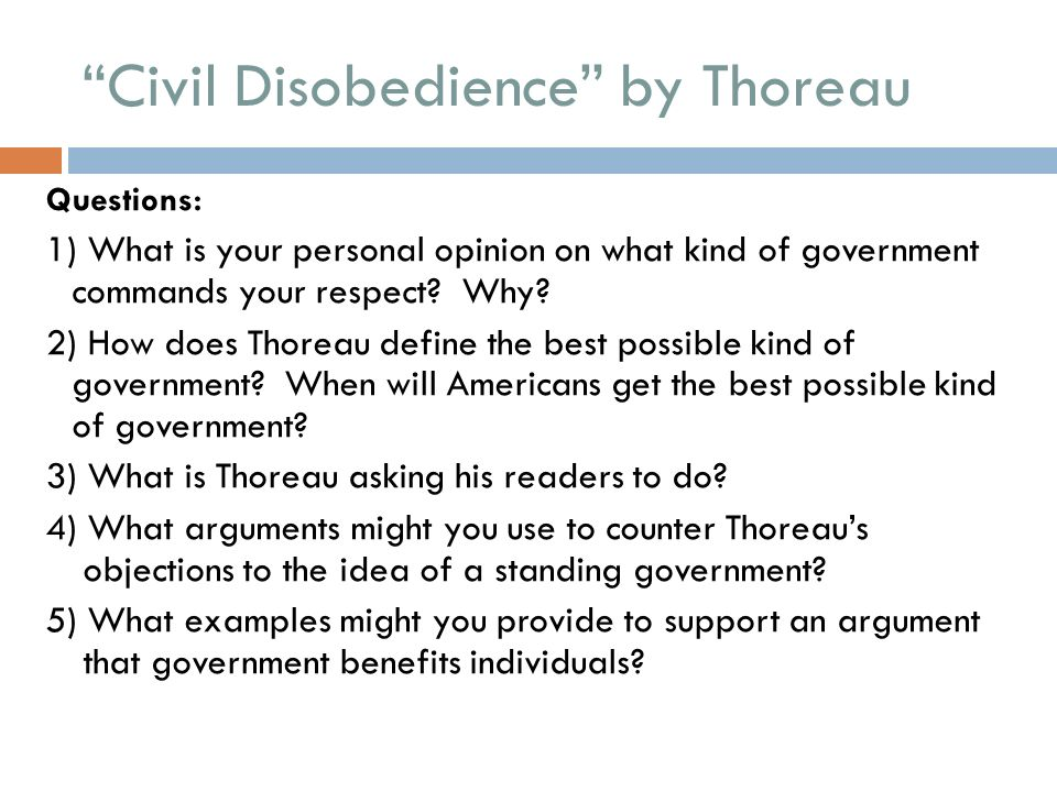 the arguments of emerson and thoreau on self reliance and civil disobedience 2018-6-14 henry david thoreau, the son of a concord pencil-maker, graduated from harvard in 1837 he worked a short while as a schoolmaster, but.