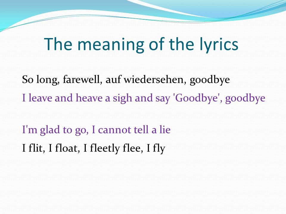 Meaning of lyrics image mag for M dupont the dining rooms lyrics