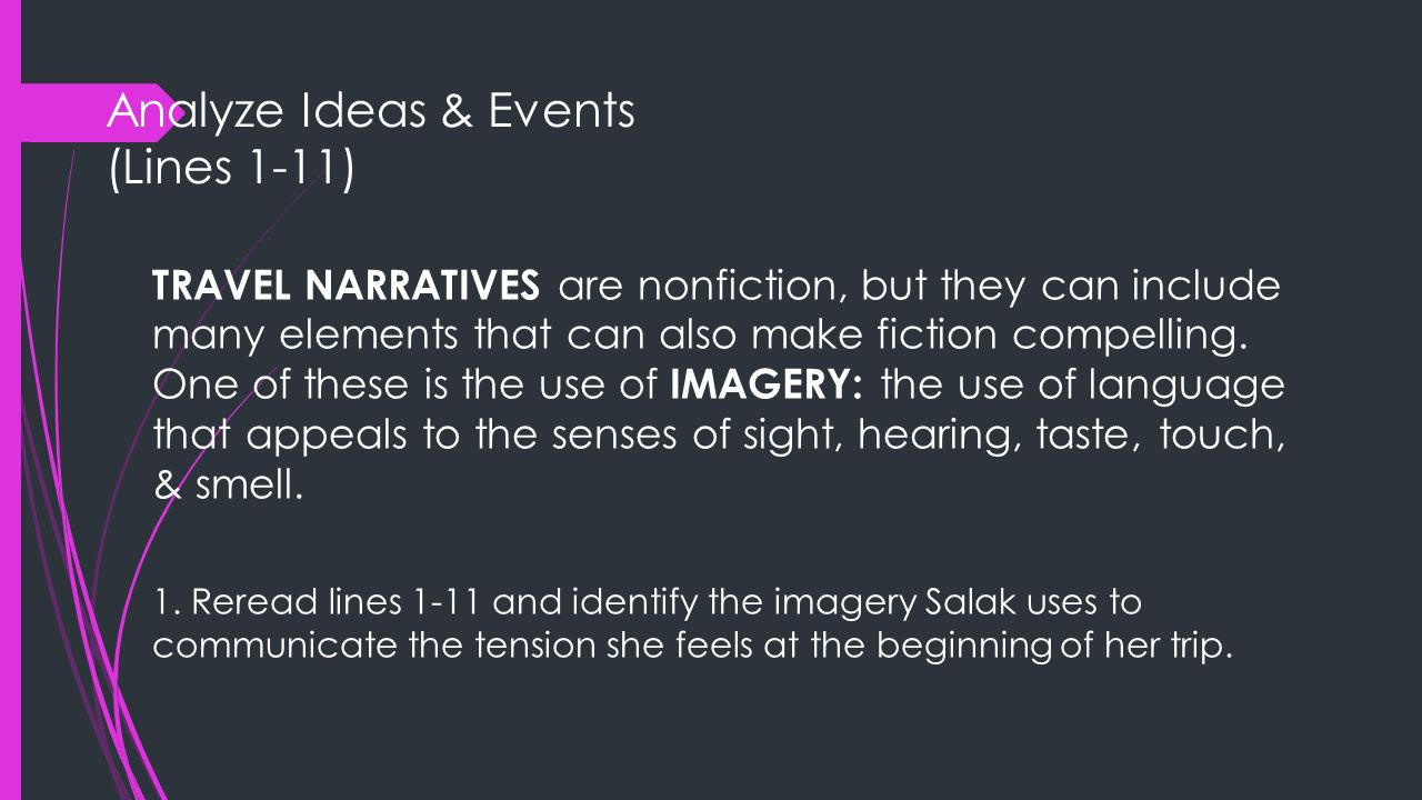 Analyze Ideas & Events (Lines 1-11)