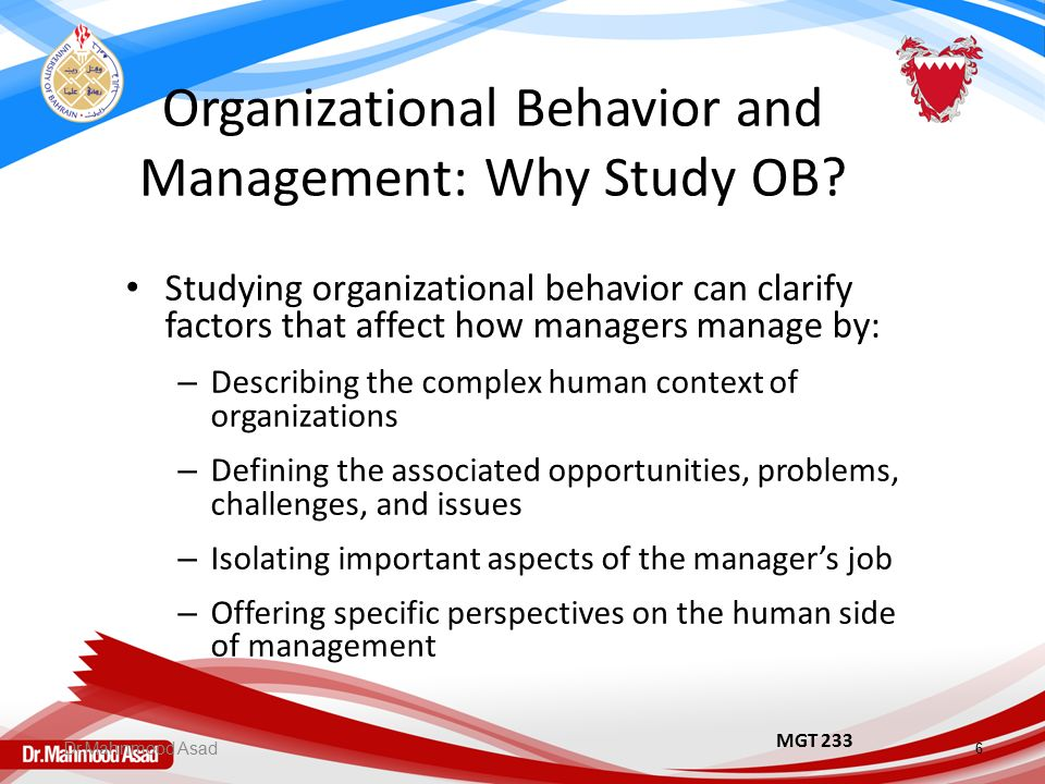 Leadership And Organizational Behavior Issues