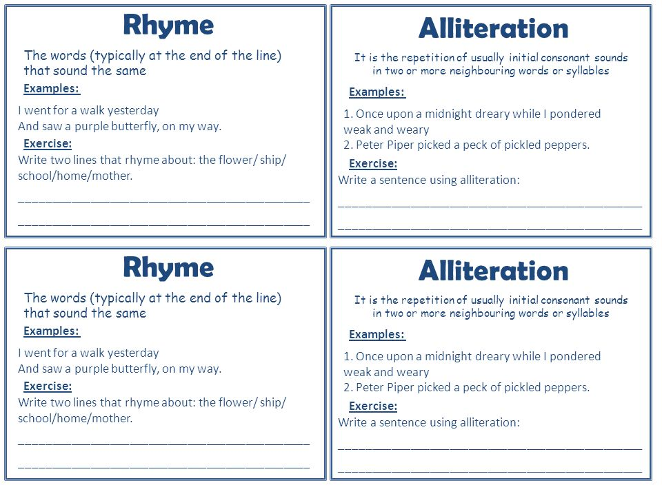 ABC Alliteration Examples | Write and Publish Here
