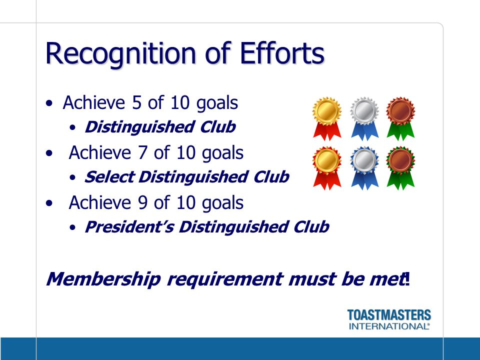 Recognition of Efforts