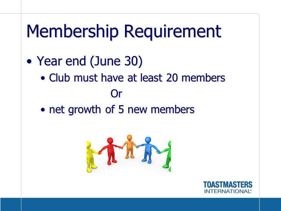 Membership Requirement