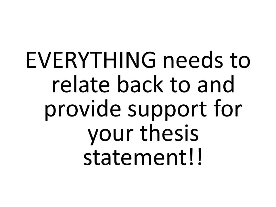 "relate back to thesis How to write an argumentative essay of college level  focus on explaining the matter, opposite opinions, and conclude the opening paragraph with the meaningful thesis statement  apply ""ifthen"" reasoning to relate the reasons back to the main position."