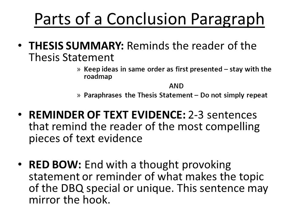 parts of thesis paper ppt