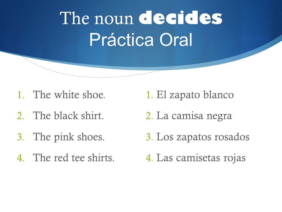 The noun decides Práctica Oral