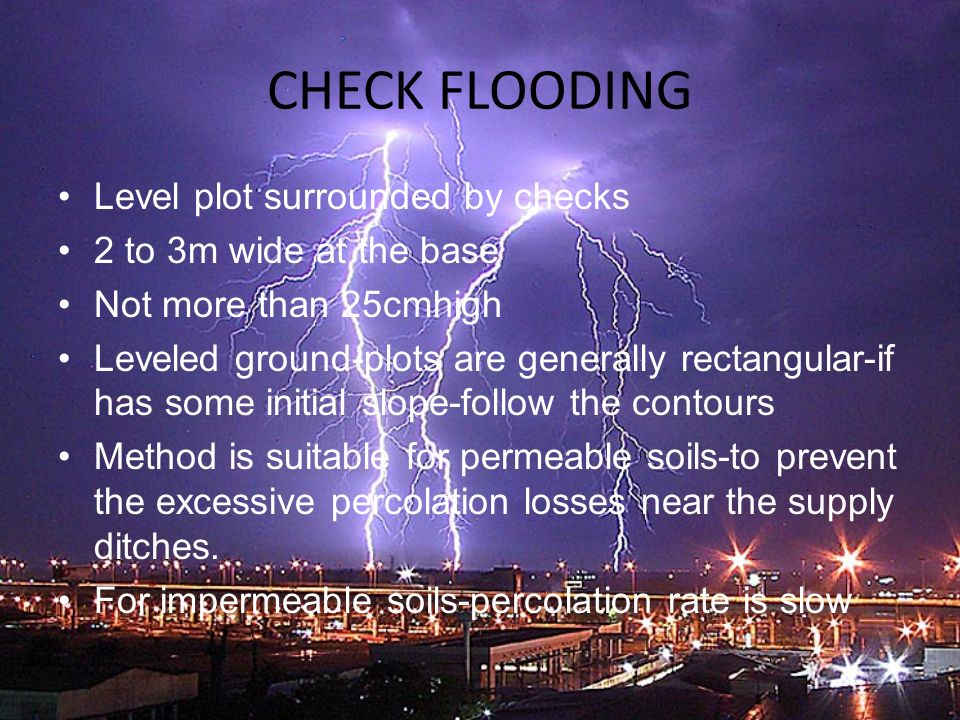 CHECK FLOODING Level plot surrounded by checks