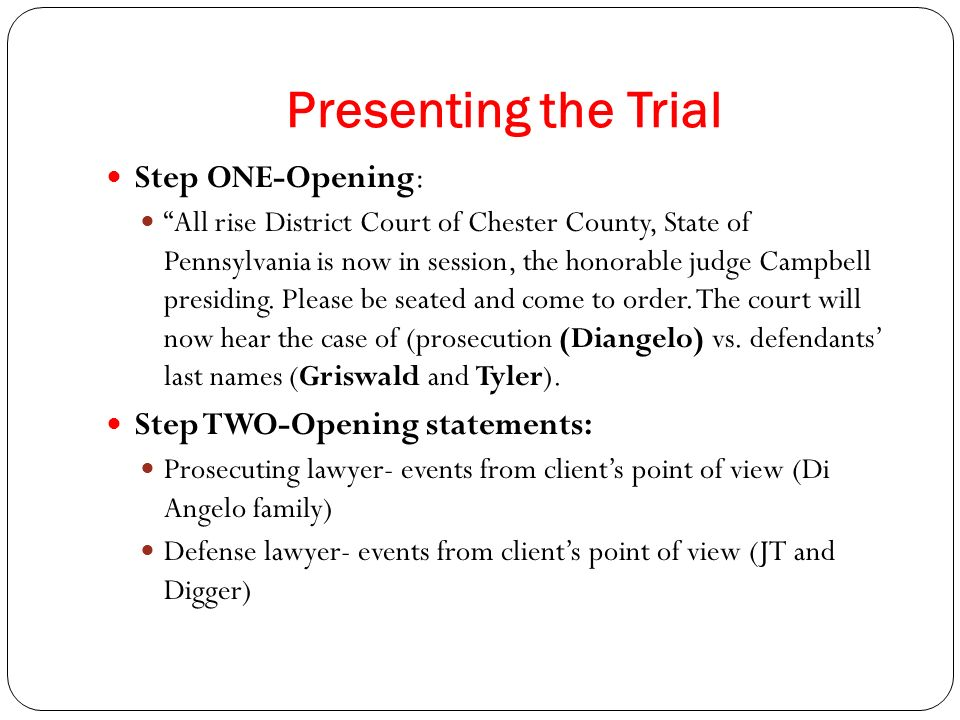 prosecution vs defense essays I have refined the proposal offered in this essay based on many  after the  prosecution's case in chief or after the defense's opening statement.